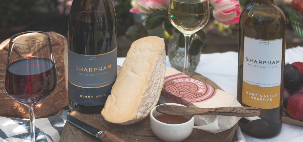 sharpham cheese and wine in sunshine food press