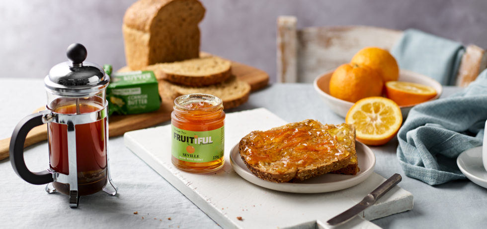 fruitiful preserve with toast