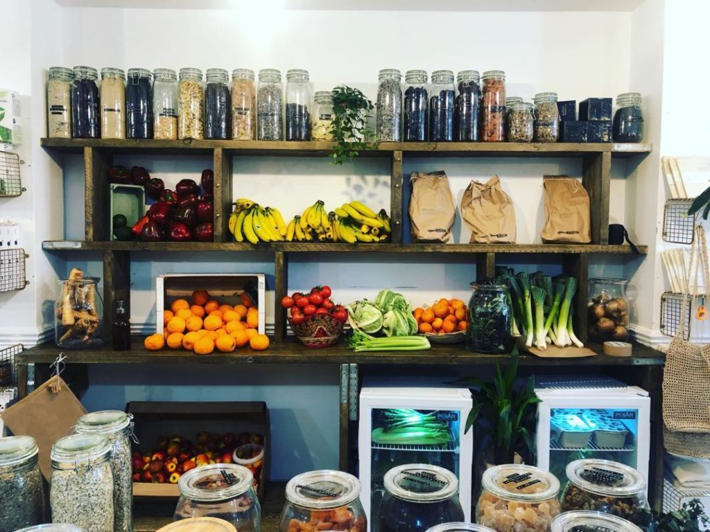 plastic free food on display at zero exeter